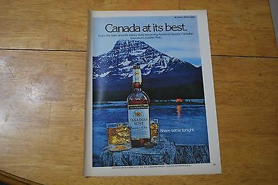 Canadian Mist Whisky 1979 Playboy Magazine ad - Excellent +++