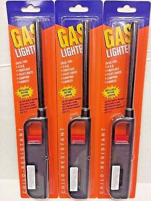 3/6/12 Pcs Multi-Use Refillable Butane Gas Lighter, On/Off Safety Trigger NEW !!