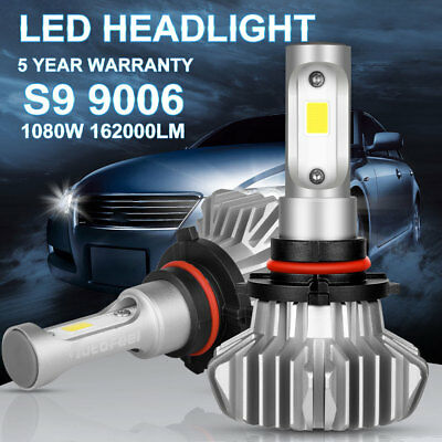 2PCS 9006/HB4 1080W 162000LM CREE LED Headlight Kit Bulbs Low Beam 6500K White