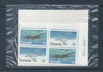 Canada #874i Signal Light Variety #874a PO Sealed Set Plate Block MNH