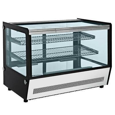 Cold Food & Cake Display Fridge, Countertop 160L Square Cabinet 878x568x688mm
