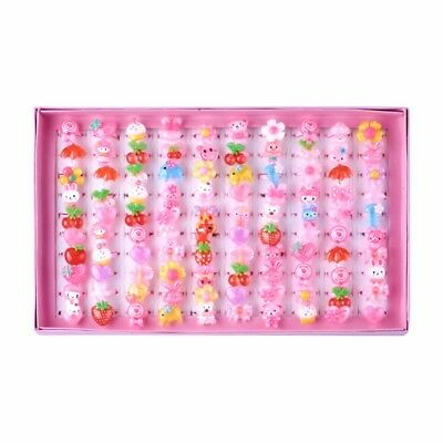 Cute Children's Day Jewelry Plastic Kids Rings for Girls, with Mixed Style