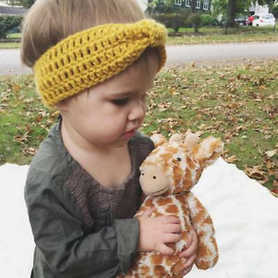 Girls Baby Toddler Headband Top Knot Knitted Hair Bow Band Turban Accesso Sale