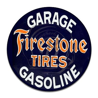Vintage Design Sign Metal Decor Gas and Oil Sign - Firestone Tires Gasoline Oil