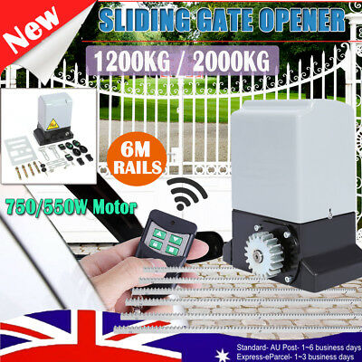 Automatic Electric Sliding Gate Opener Swing Motor Remote Hardware Rail Kit Set