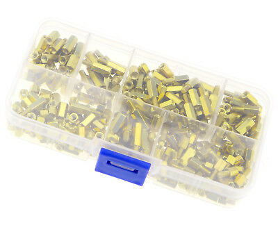 300Pcs M3 Brass Standoff Spacer 3mm Hex Hexagonal Female Nuts Screw Pillars Kit