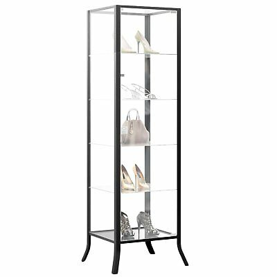Curio Cabinet Display with Glass Door and Lock for Collectibles and Other Items