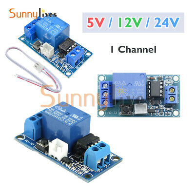 DC 5V/12V/24V 1 Channel Latching Relay Module Touch Bistable Switch MCU Line