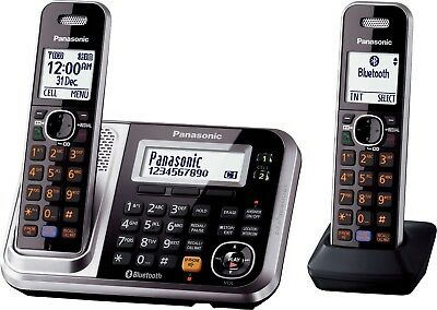 Dect Bluetooth Cordless Phone Twin Pk With Answering Machine