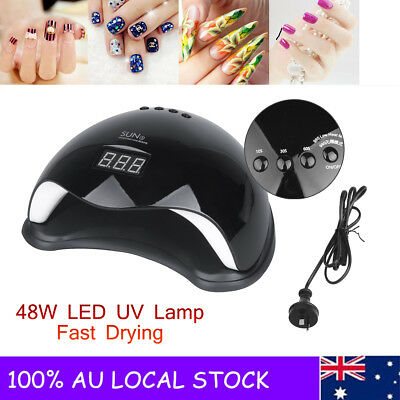 48W LED Nail Light Lamp UV Nail Art Dryer Gel Gelish Timer Polish Nails Cure AU