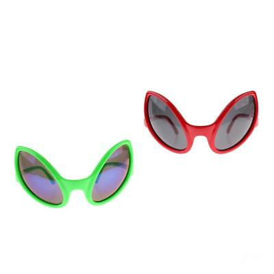 Novità Alien Sunglasses Party Glasses Funny Fancy Dress Costume Green Red