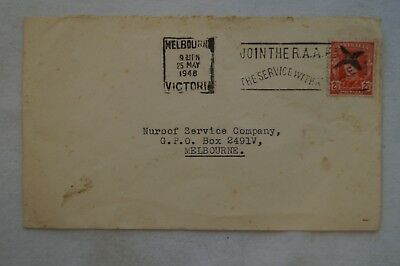 Vintage - Two and a Half pence - 1948 - Addressed Envelope and Stamp - Australia