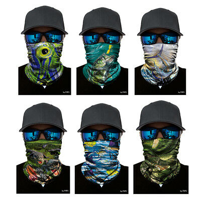 3D Amphibian Cycling Fishing Scarf Neck Warmer Face Mask Balaclava Bandana Hot