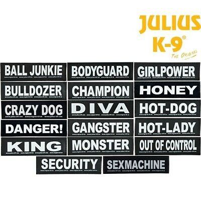 Julius K9 Dog / Puppy Power Harness Velcro Sticker Label Night Reflective Patch