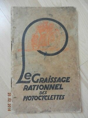 Notice LE GRAISSAGE RATIONNEL DES MOTOCYCLETTES 1927 MOBILOIL