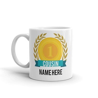 World's Number One Cousin Gift Mug Personalised Name Family Best Coffee Tea 1