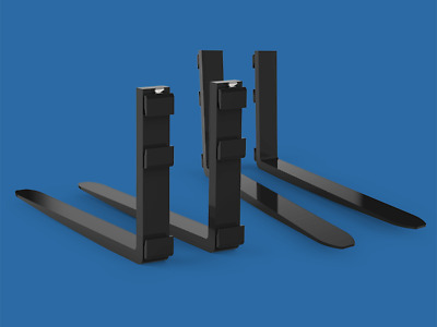 Pair Of Class 2A Forklift Forks, 100 X 45 X 1000, 1100, 1200 Or 1400Mm Long
