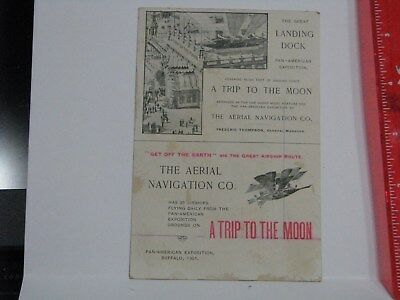 1901 Pan American Exposition - A Trip to the Moon The Aerial Navigation Co SciFi