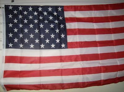 U.S. American Flag 4' X 6' Polyester with Metal Grommets SOLD BY A VIETNAM VET.