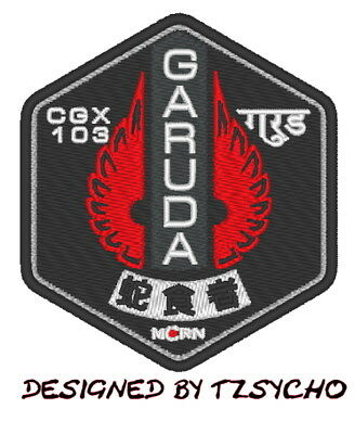Es0264 Tv/Movie Patch The Expanse - Mcrn Garuda Embroidered Ship Patch