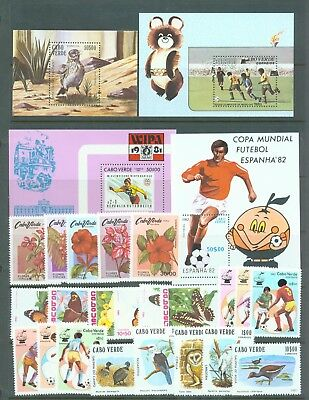 Cape Verde 1980-82 four sets (23 stamps) and 4 miniature sheets Birds etc MNH