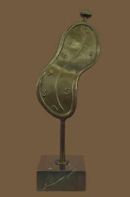 Bronze Sculpture Statue Abstract Modern Melting Clock by Salvador Dali Gift Deco