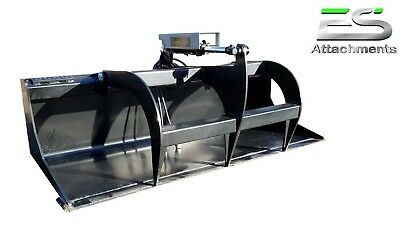 """Es New 66"""" Smooth Bucket Grapple Skid Steer Quick Attach Loader -Local Pick Up"""