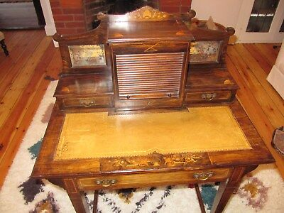 Antique Edwardian inlaid ladies desk