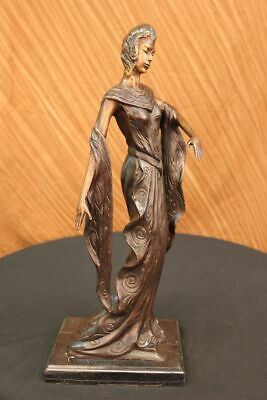 Large Stunning Art Deco Nouveau Semi Nude European Made Masterpiece Sculpture St