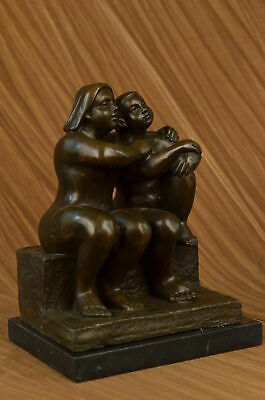 Bronze Sculpture Statue Dickes Paar Signed Botero Figure Figurine Art SALE Gift
