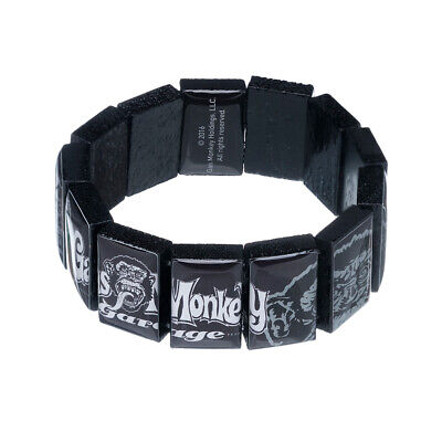 Gas Monkey Garage Holz Armband Schmuck OG Head Black