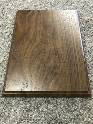 """6""""X 8"""" Walnut Finish Plaque Board for the Do It Yourselfer"""