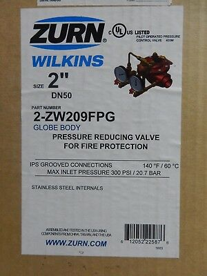 "ZURN Wilkins ZW209FPG 2"" Grooved Pressure Reducing Valve Fire Protect 2-ZW209FPG"