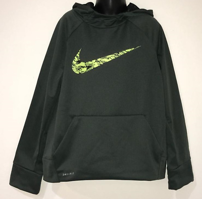 Boy's Nike Pullover Hoodie Sweatshirt Therma-Fit 856141 372 Small (8) Nwt