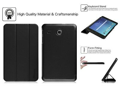 Samsung Galaxy Tab E 8.0 Case PU Leather Slim Stand Cover SM-T375/SM-T377 Black