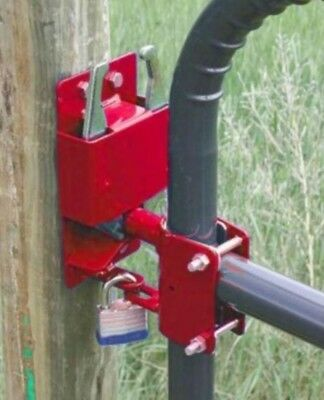 "Two-Way Lockable Gate Latch for 1-5/8"" to 2"" Diameter Tubing GTLT002"