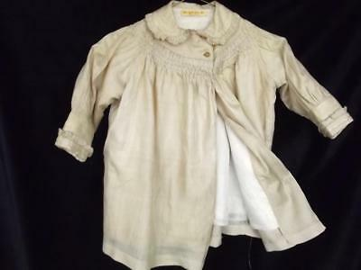 Antique 1920s Halle Bros Co Cleveland Hand Sewn Frocked Silk Toddler/Baby Coat