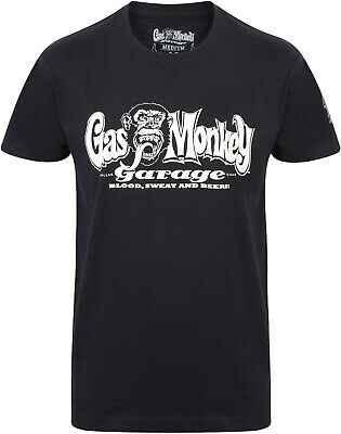 Gas Monkey Garage T-Shirt Shirt Fast'N Loud OG Logo Darkblue/Dunkelblau