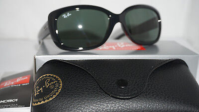 49ab338d9e RAY BAN New Sunglasses Jackie Ohh Black Green Classic G-15 RB4101 601 58 135