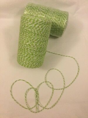 Bakers Twine - Full Roll - 250 Meters - Spring Green - New