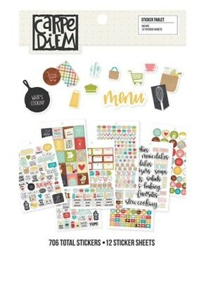 Simple Stories Carpe Diem A5 Planner Inserts Recipe Stickers