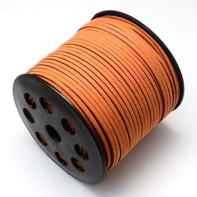 10 M Faux Suede Cord Leather Jewelry Making Beading Thread Chocolate(R007-1055)
