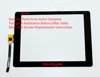 Touch Screen Panel Digitizer Replacement for Autel MaxiSys MS906 + Instructions