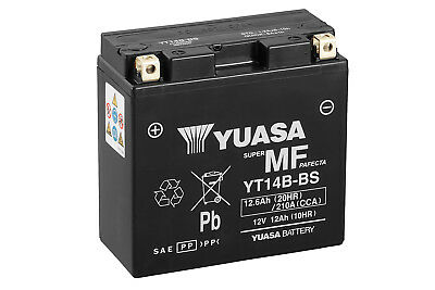 Yuasa Motorcycle Battery 12V 12Ah 210CCA For YAMAHA 1700 XV1700PC, CMV