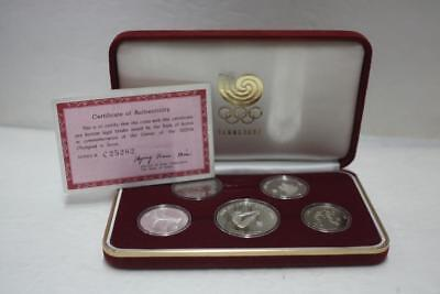 1988 Korea Seoul Olympic Games Commemorative 5 coins Proof Set 3rd Issue(1988)
