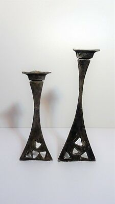 Pair of candlesticks candle holders shape free Brutalist design candlestick 60'S