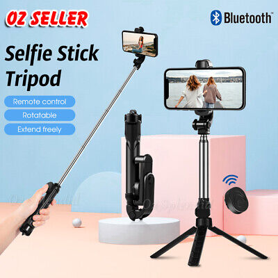 Monopod Selfie Stick Handheld Tripod Bluetooth Shutter For iPhone 11 Pro Samsung