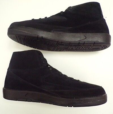 ef19b2a69503 NEW NIKE AIR JORDAN 2 Retro Decon Mens Black Suede Shoes Size 13 897521-010
