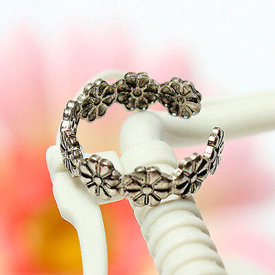 Jewelry Hot Celebrity Simple Retro Flower Design Adjustable Toe Ring Foot