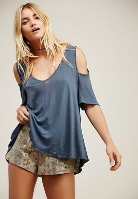 058ba54fb5d058 NWT We The Free People Cold Shoulder Top Tee Shirt Beach 5 colors casual